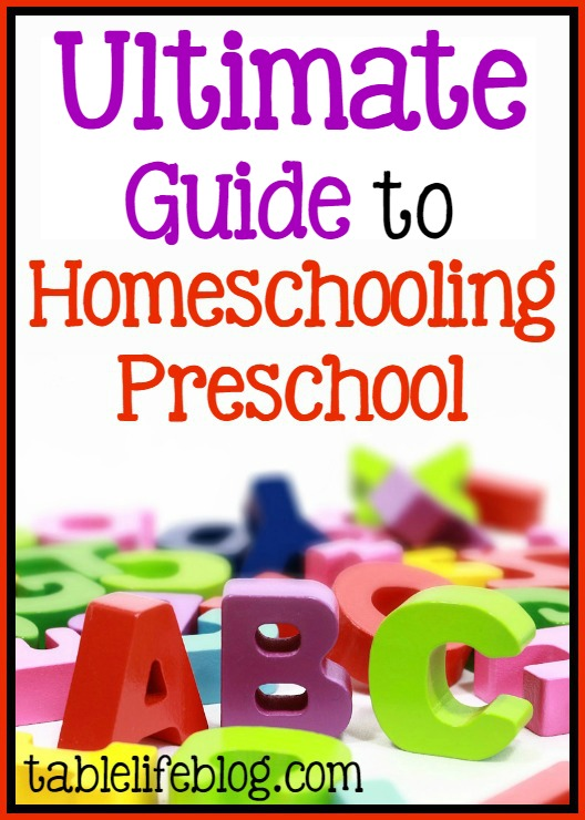 Ultimate Guide to Preschool at Home - Help for homeschooling preschool