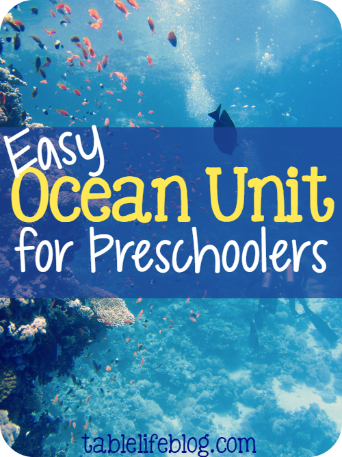 2016 Reader Favorites from TableLifeBlog ~ Easy Ocean Unit for Preschoolers