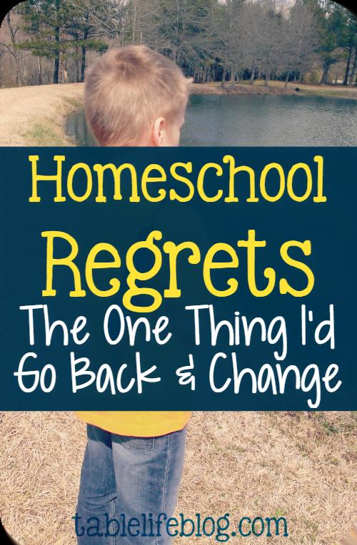 Homeschool Regrets: What I'd Go Back and Change