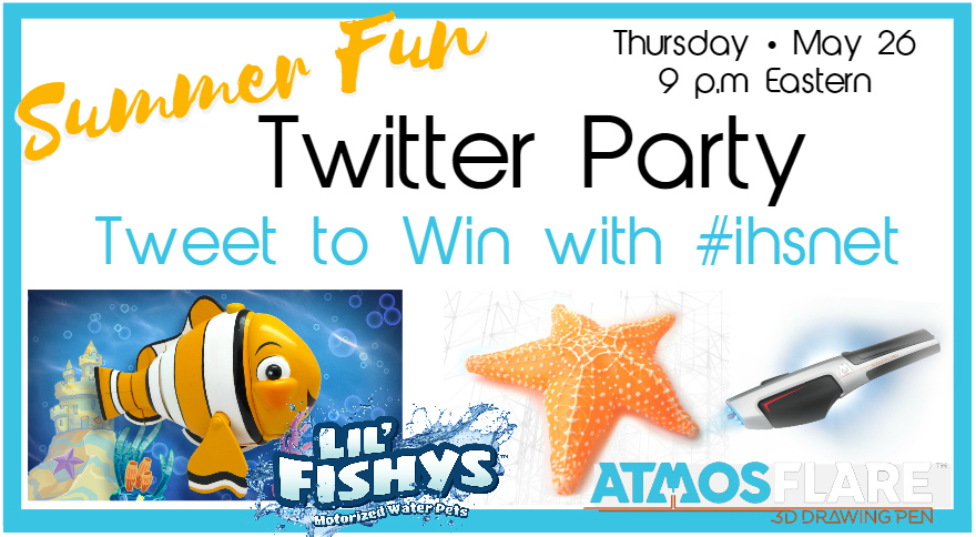 Summer Fun Twitter Party with Lil' Fishys and Atmosflare 3D - Using Fish Toys for Early Learning
