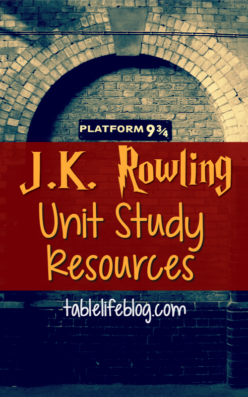 J.K. Rowling Unit Study Resources