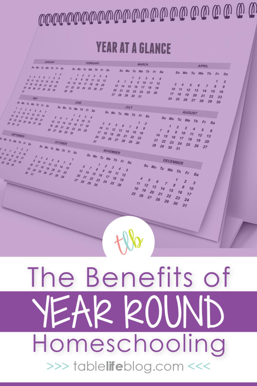 10 Benefits of Year Round Homeschool