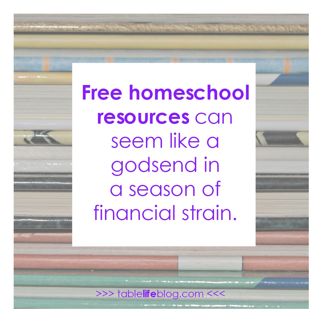 Confessions of a Homeschool Freebie Hoarder • TableLifeBlog