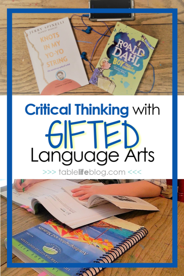 Critical Thinking with Gifted Language Arts