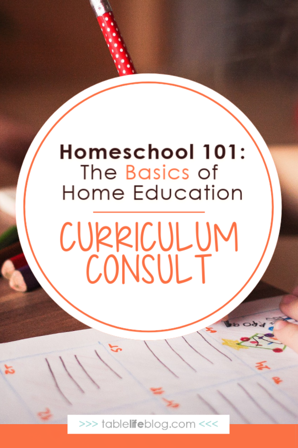 Homeschool 101: Curriculum Consult