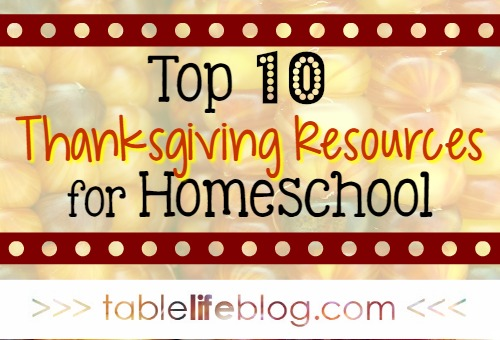 Thanksgiving Resources for Homeschool