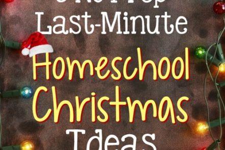 5 No-Prep, Last-Minute Homeschool Christmas Ideas