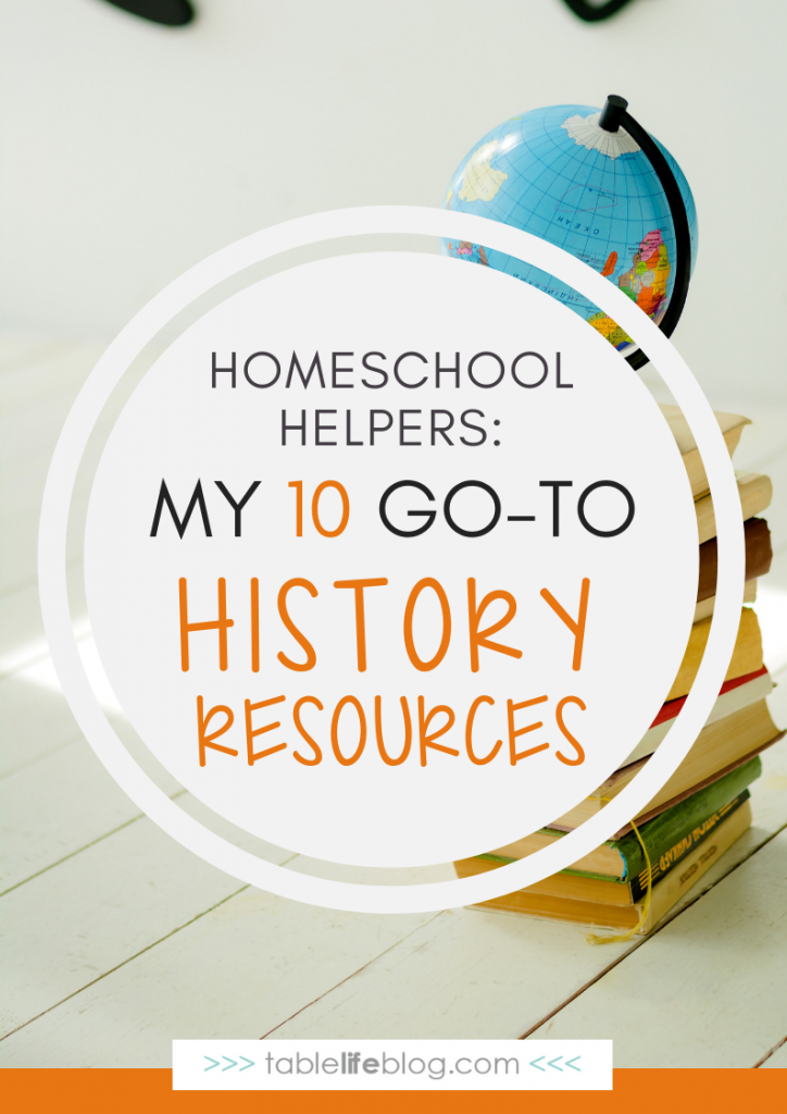 My 10 Go-to Resources for Homeschool History