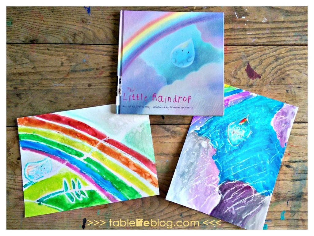 The Little Raindrop Watercolor Resist Art Project