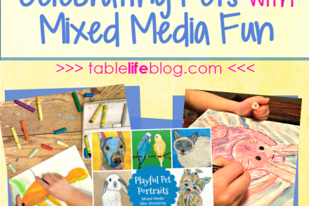 Celebrating Pets with Mixed Media Fun