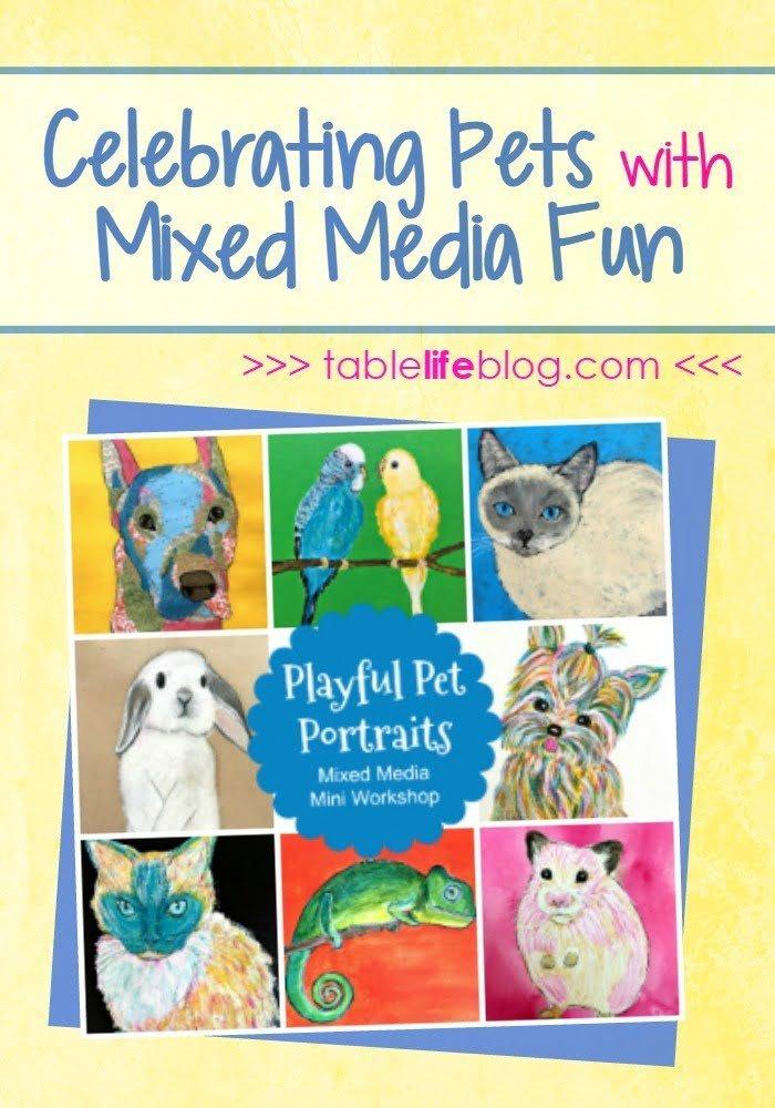 Playful Pet Portraits Workshop: Celebrating Pets with Mixed Media Fun