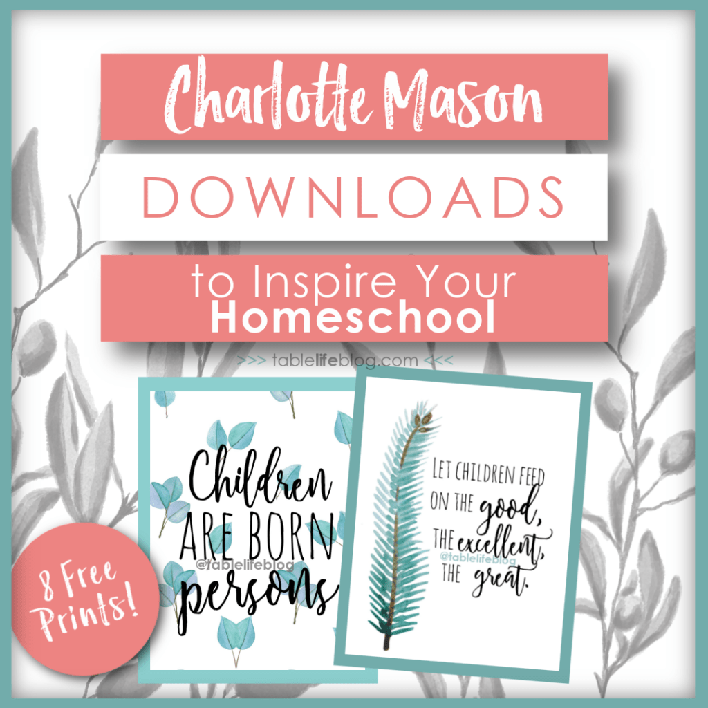 Looking for some inspiration and encouragement for your homeschool journey? Today I'm sharing some of my favorite Charlotte Mason quotes with you. Better yet, I've created graphics for social sharing, phone backgrounds, and printables with these quotes.