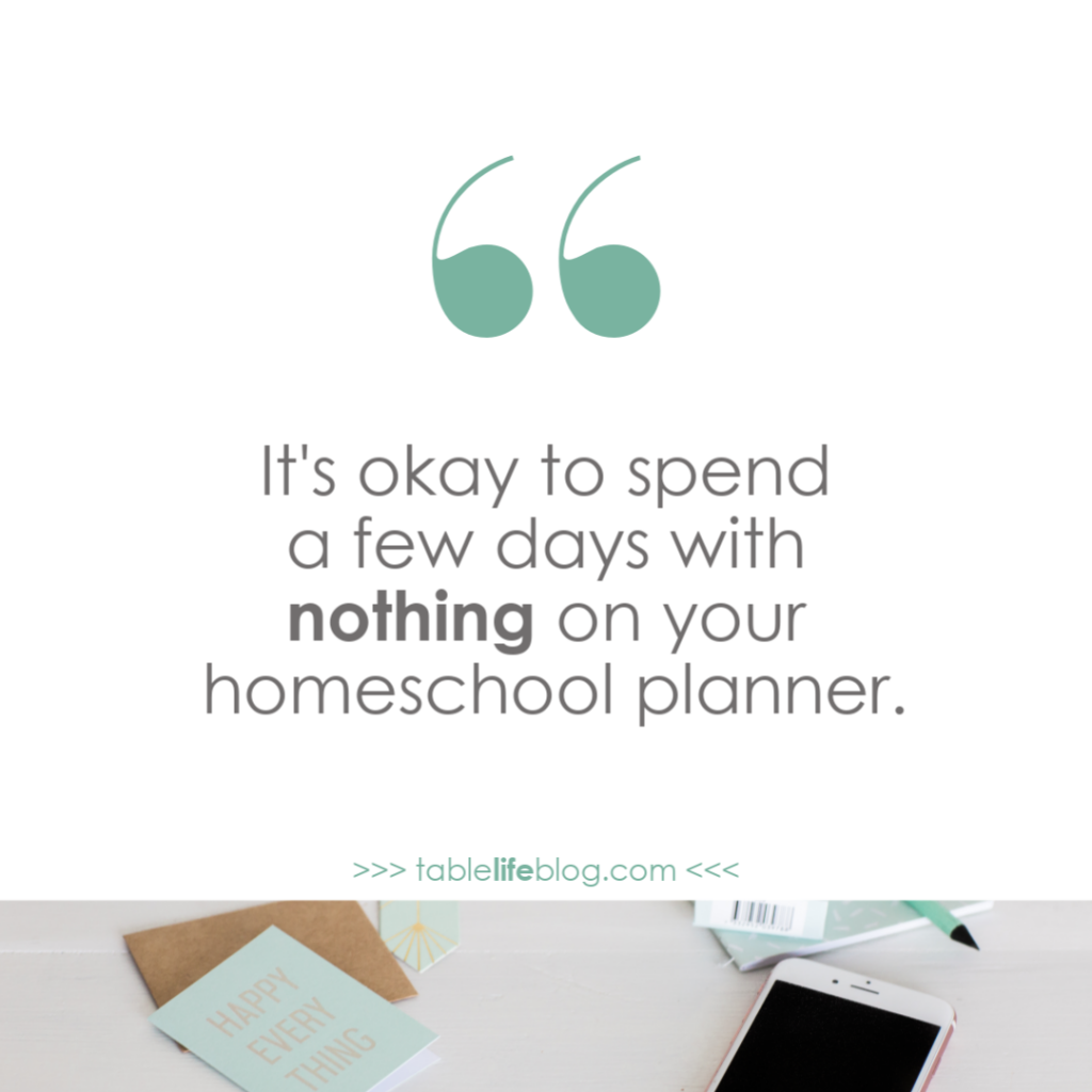 Homeschool Mother's Journal: Permission to Slack Off