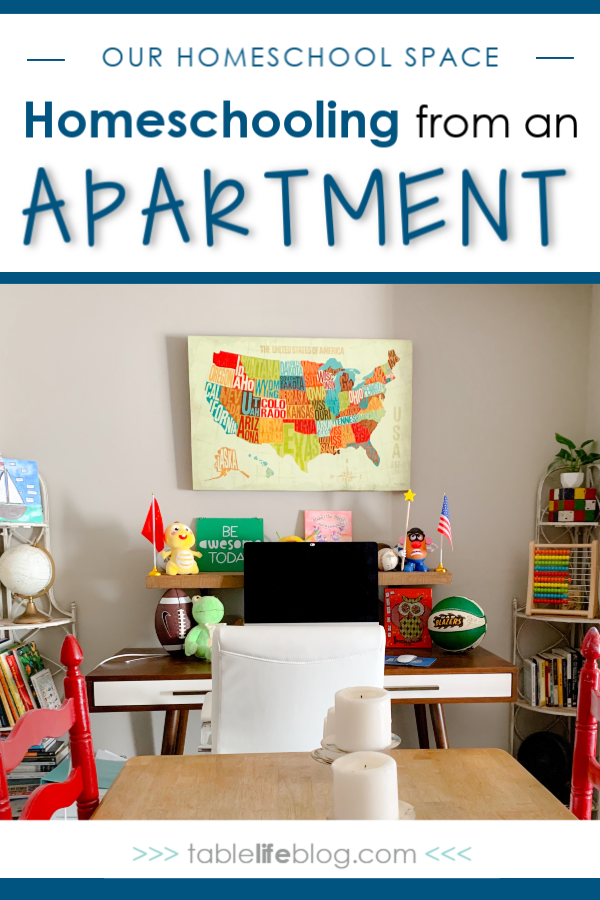 Do you need a designated space to homeschool? It's nice to have, but you can survive without one. Not so sure? Here's how we handle homeschooling from an apartment.