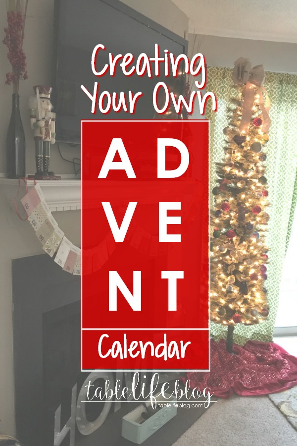 Celebrate the Christmas season by creating your own Advent calendar.