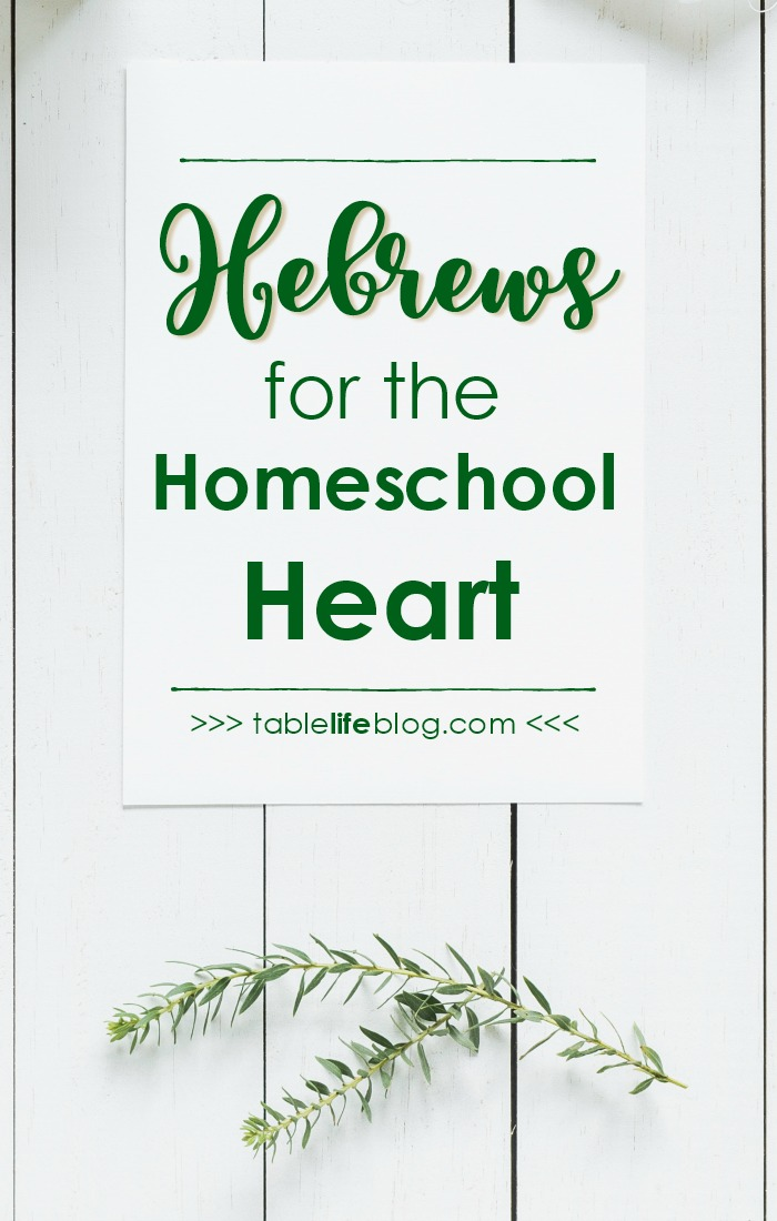 Hebrews for the Homeschool Heart: A look at a few ways to apply the book of Hebrews to the homeschool life.