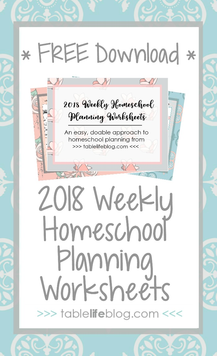 Need help with homeschool planning? Don't miss these 2018 weekly homeschool planning worksheets.
