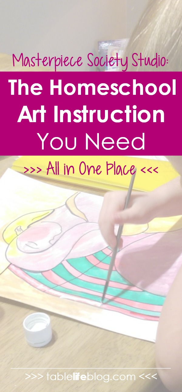 Masterpiece Society Studio: The Homeschool Art Instruction You Need All in One Place