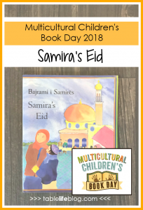 The cover of Samira's Eid by Nasreen Aktar and and Enebor Attard - for Multicultural Children's Book Day 2018
