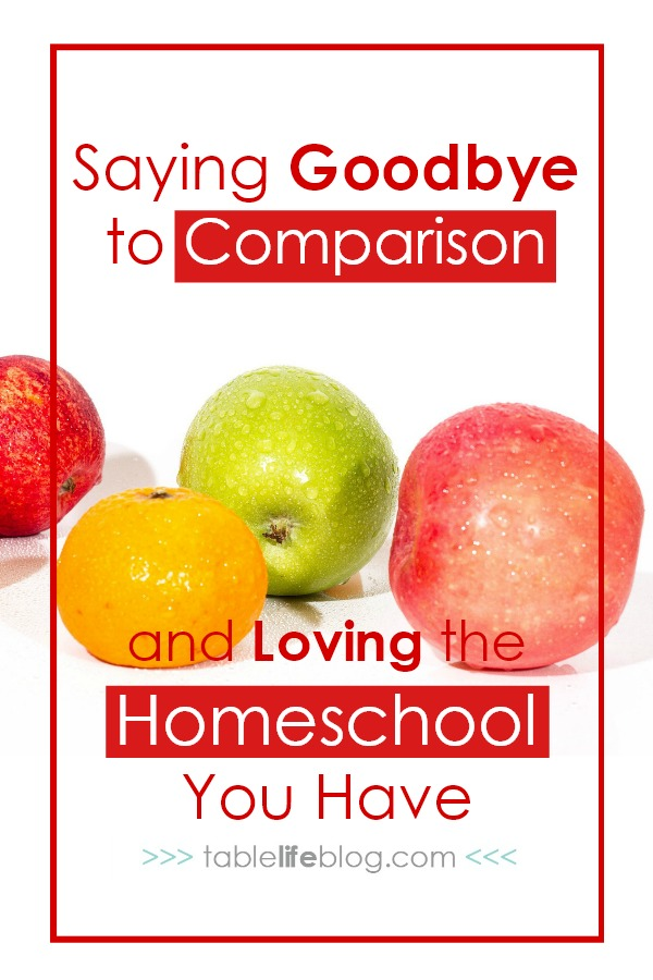 Saying Goodbye to Comparison and Loving the Homeschool You Have