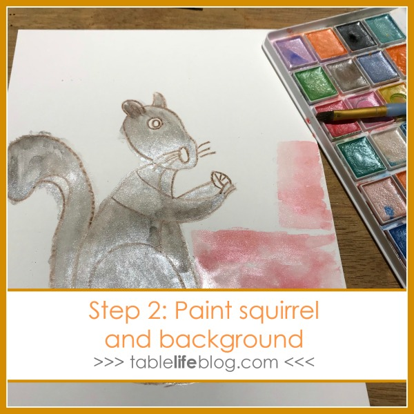 Nuts to You! Watercolor Squirrel Art