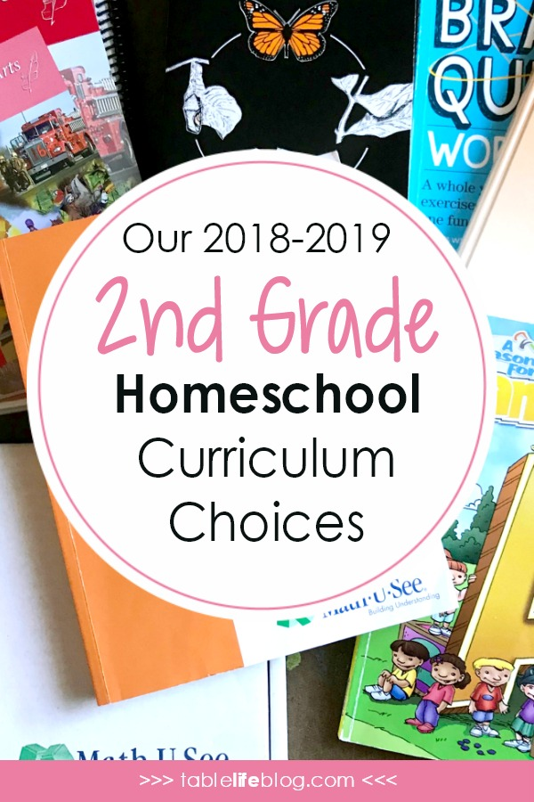 Our 2018-2019 Curriculum Choices: Homeschooling 2nd Grade