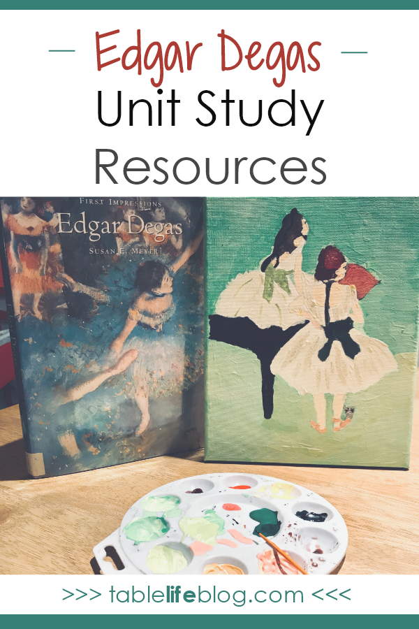 Meeting the Master Artists: Edgar Degas Unit Study Resources