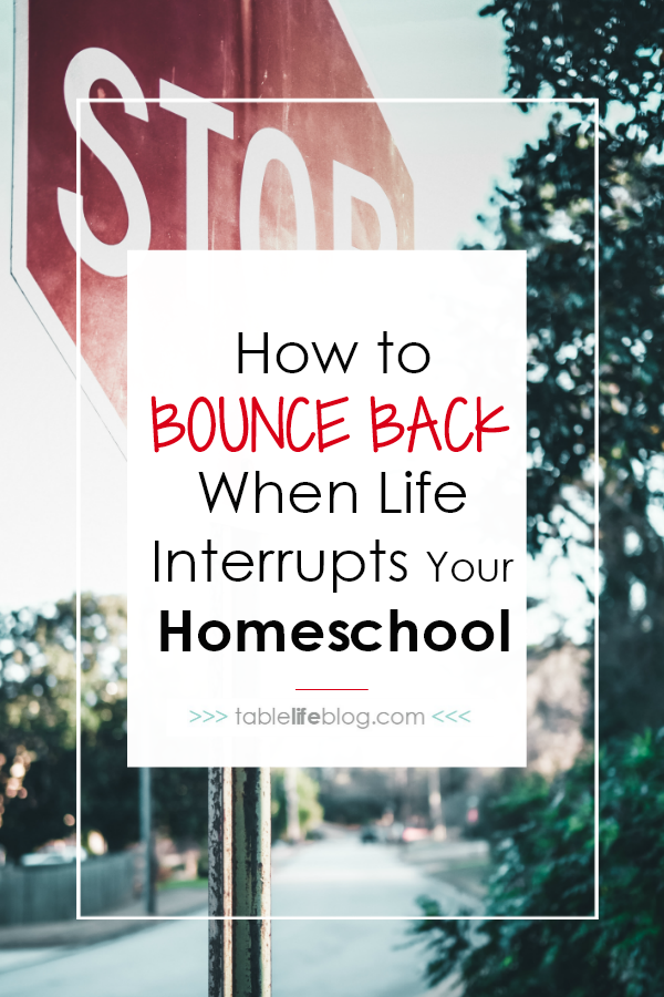 How to Bounce Back After Life Interrupts Your Homeschool