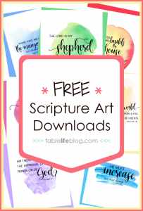 100 Bible Verses for the Homeschool Heart (+ Free Printable Scripture Art!)
