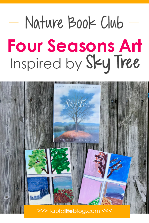 Nature Book Club: Four Seasons Tree Art Project Inspired by Sky Tree