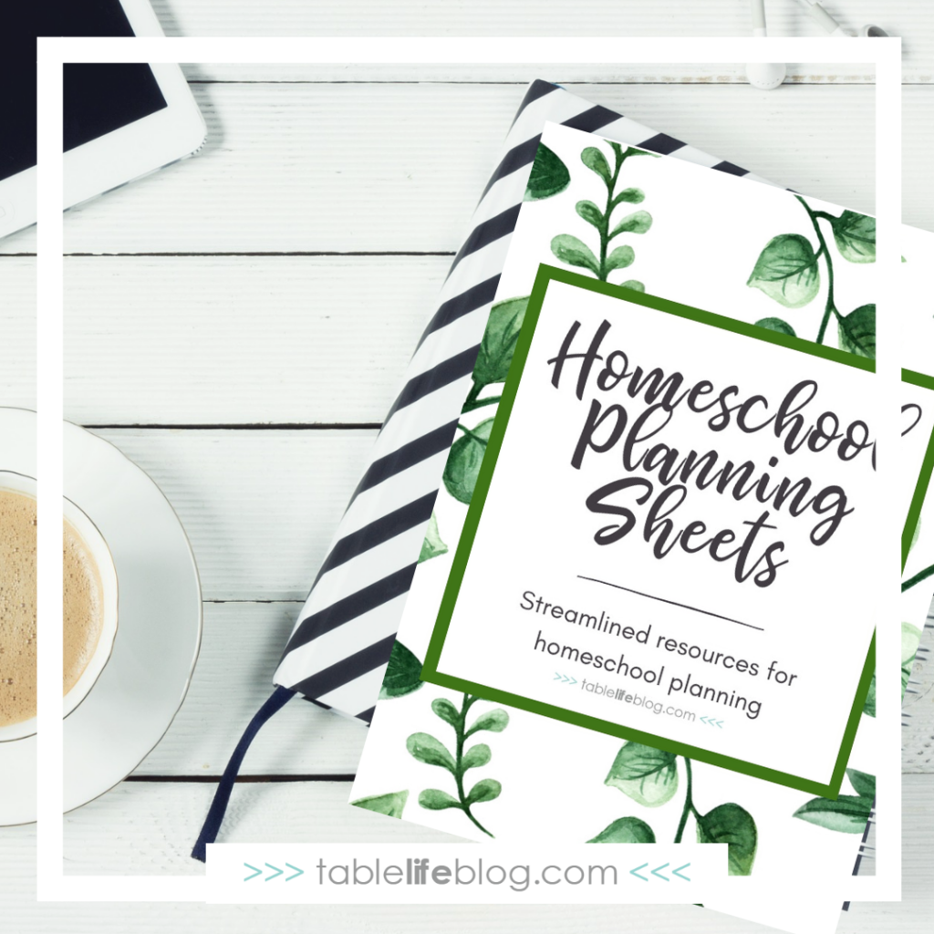 Free Downloads for Relaxed Homeschooling: Super Simple Homeschool Planning Worksheets