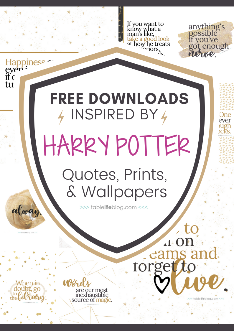 picture regarding Free Printable Decor identified as 10 Marvelously Magical Harry Potter Prices (+ Free of charge Printable