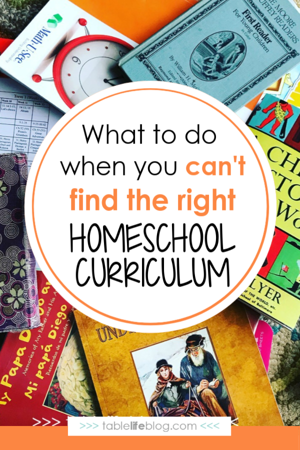 What to Do When You Can't Find the Right Homeschool Curriculum