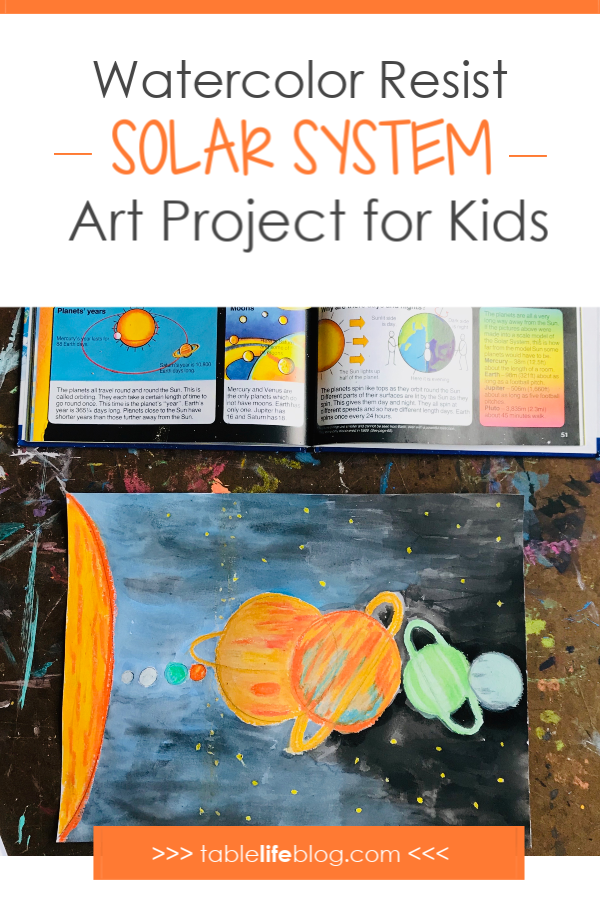 Looking for an art project to do while studying space with your kids? I've got a fun and easy solar system art project for you today.