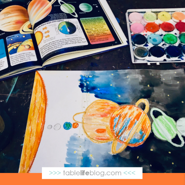 Quick and Easy Solar System Art for Kids ~ Step 3: Watercolor