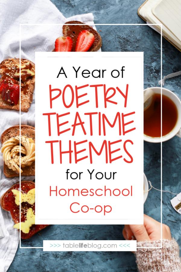 Homeschool Co-op Poetry Teatime Themes