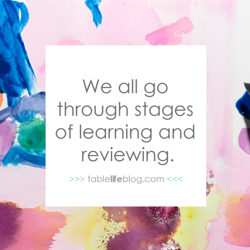 We all go through stages of learning and reviewing. {The Only Thing You Really Need for Successful Homeschooling}
