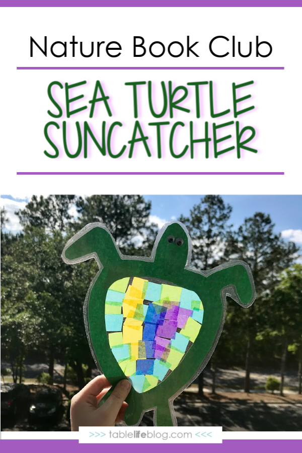Nature Book Club: Sea Turtle Suncatcher Craft