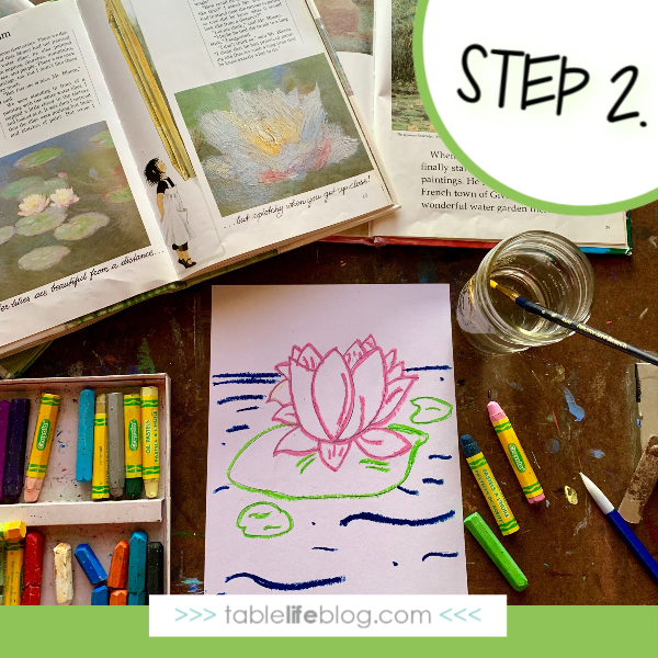 Nature Book Club: Painting Monet's Garden - Step 2. outline the sketch