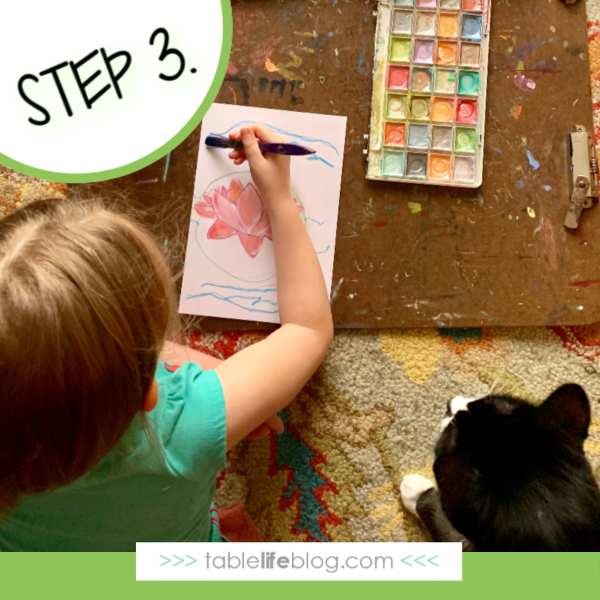 Nature Book Club: Painting Monet's Garden - Step 3. Paint the scene.