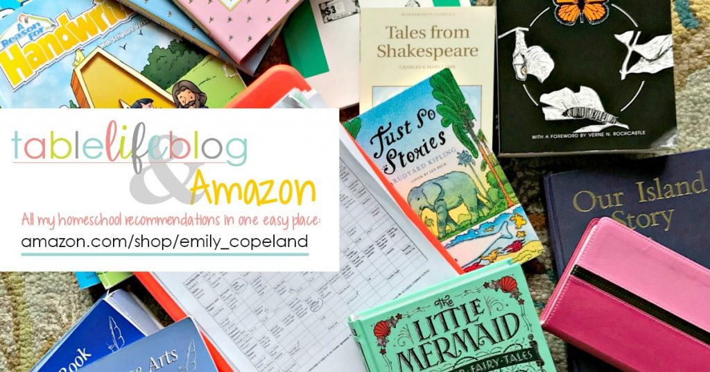 Find our favorite homeschool resources on my Amazon page!
