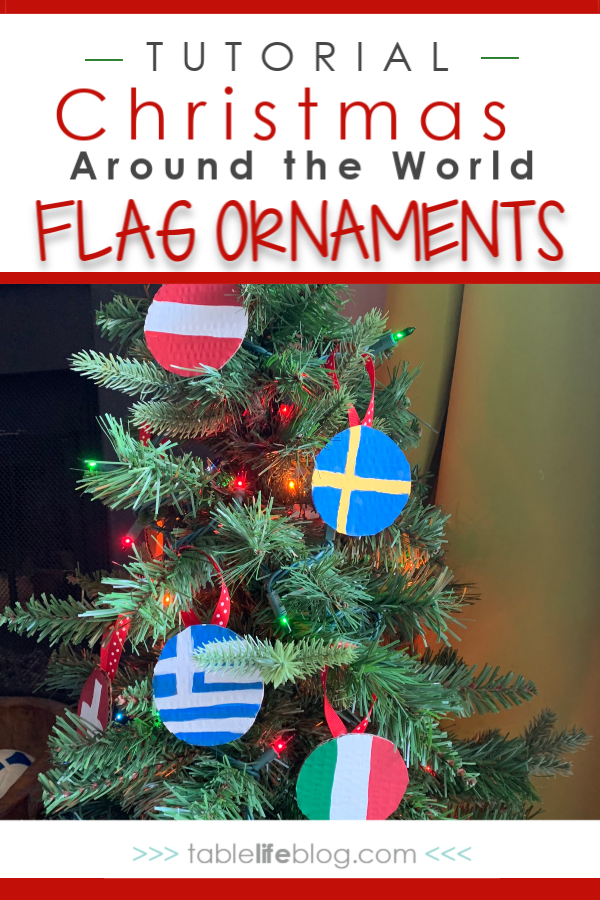 Quick and Easy Christmas Around the World Flag Ornaments