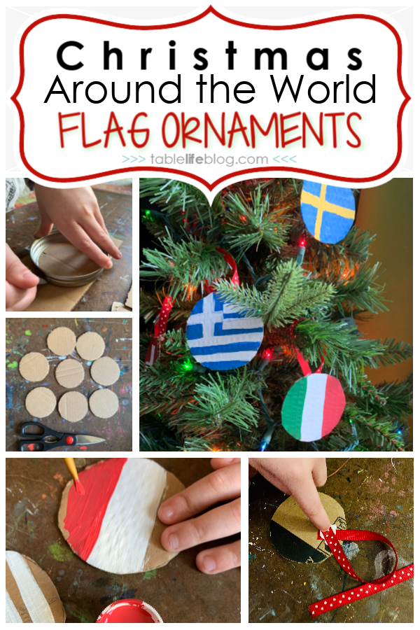 Are you studying Christmas Around the World in your homeschool this holiday season? Don't miss these quick and easy flag ornaments!