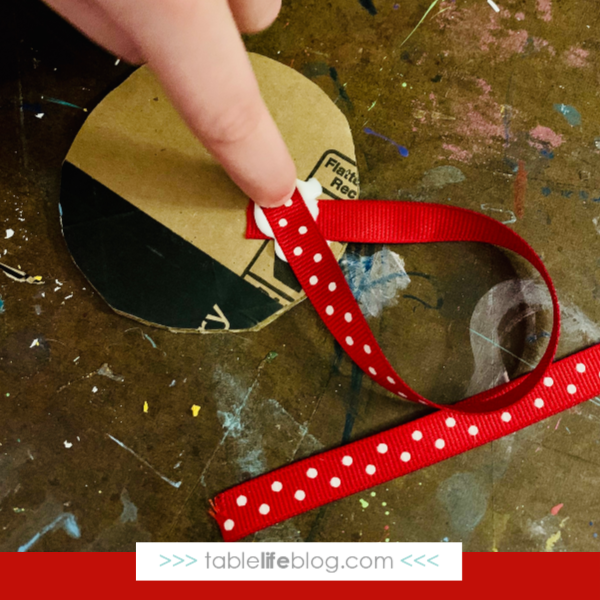Christmas Around the World Flag Ornaments Tutorial: Step 3 - add hangers