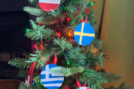 Christmas Around the World Flag Ornaments Tutorial