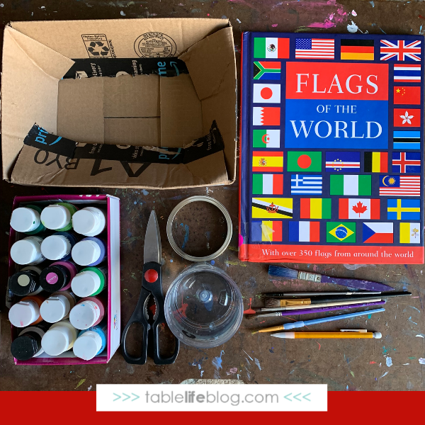 Christmas Around the World Flag Ornaments Tutorial: Supplies Needed