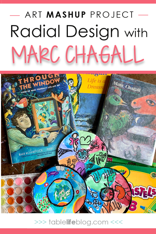 Art Mashup Project: Radial Design with Marc Chagall