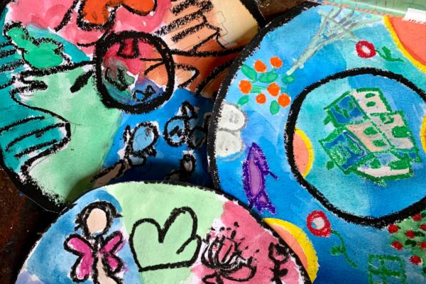 Art Mashup for Kids: A Marc Chagall-Inspired Radial Design Project