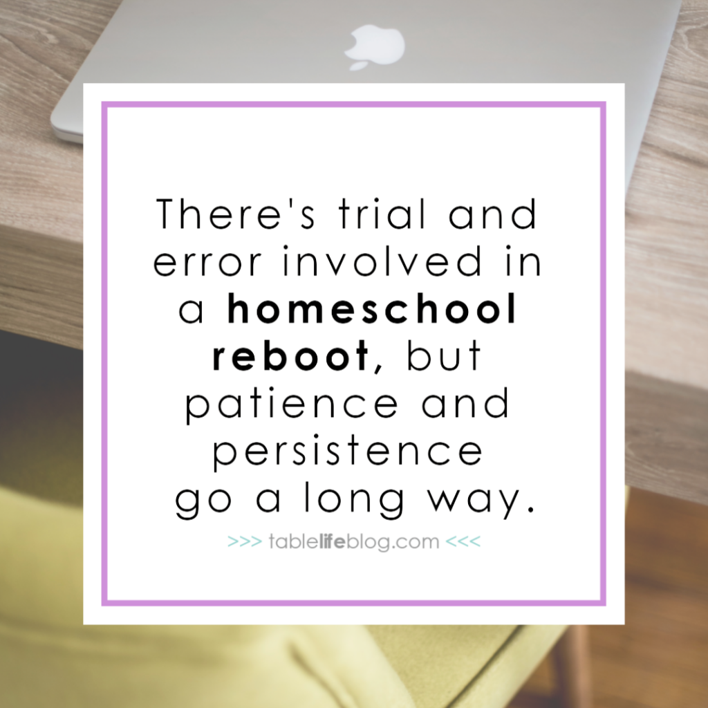 How to Pull Off a Midyear Homeschool Reboot