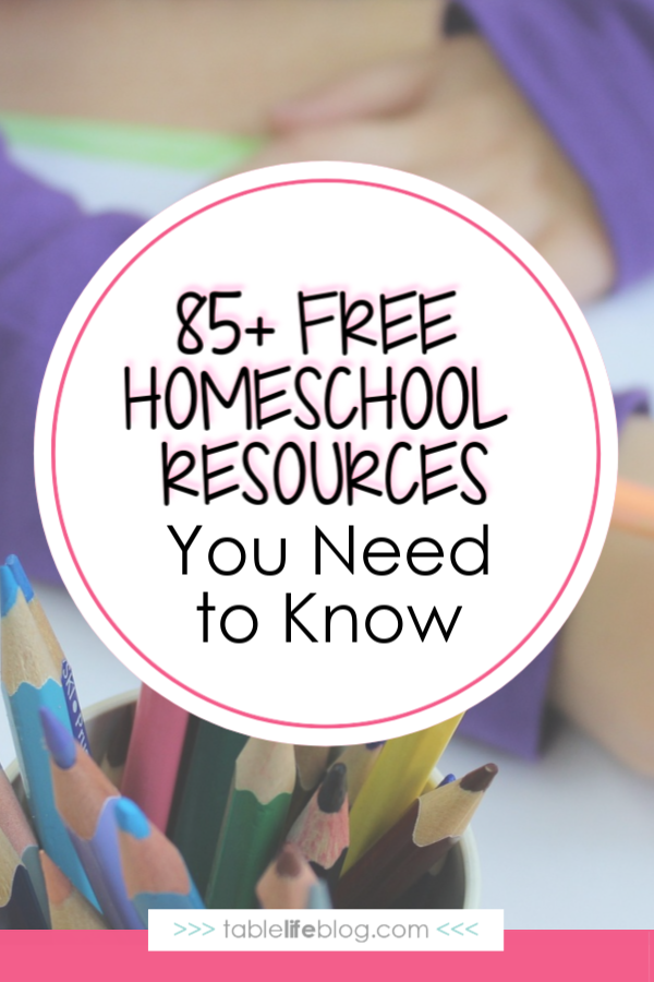 85+ Free Homeschool Resources to Keep in Your Back Pocket